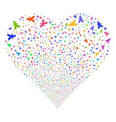 Yuan fireworks heart vector