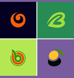 abstract curl b logos vector image