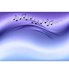 abstract music blue vector image vector image