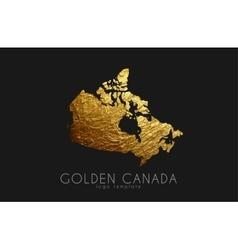 Canada map Golden Canada logo Creative Canada vector image vector image
