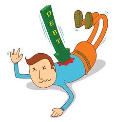 debt attack vector image vector image