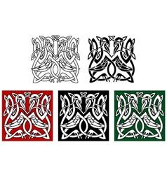 Heron birds ornament vector image