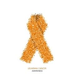 Modern leukemia cancer awareness circles vector