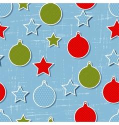 Retro Christmas Pattern vector image