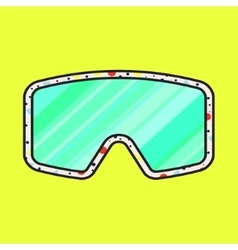 Ski fashion sunglasses icon vector