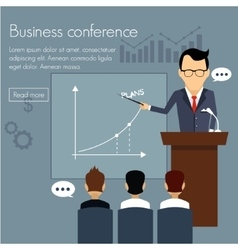 Banners template set Conference presentation vector image