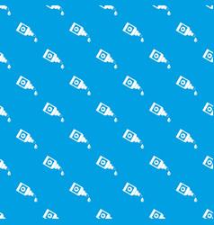 bottle for eye drops pattern seamless blue vector image vector image
