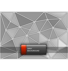 Gray Triangles vector image vector image
