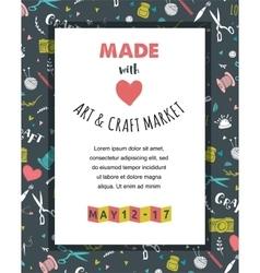 Handmade crafts workshop art fair and festival vector image