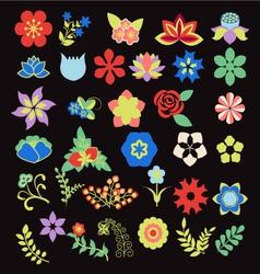Symbols icon set Flower Set vector image vector image