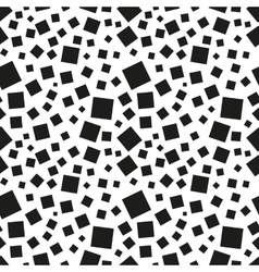 Abstract black squares seamless pattern vector image