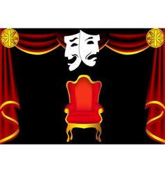 Drama Stage vector image vector image
