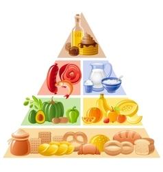 food guide pyramid vector image