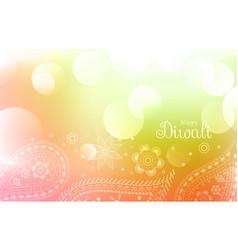 Happy diwali greeting wallpaper vector