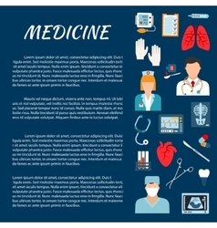 Healthcare design template with medical icons vector image vector image