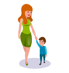 mother and child cartoon vector image vector image