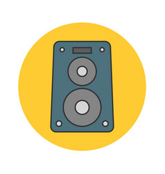 music speaker flat line icon vector image vector image
