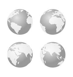 set of globe icon earth symbol vector image vector image