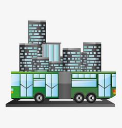 bus passenger public transport urban background vector image