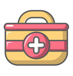 first aid bag icon cartoon style vector image