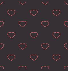 hearts dark tender background seamless pattern vector image vector image