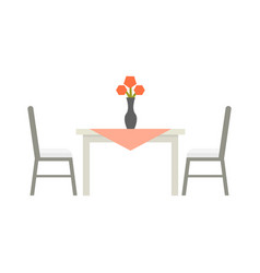 kitchen table flat isolated vector image vector image