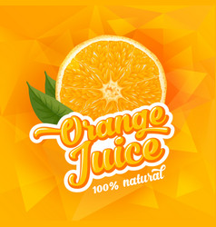 orange juice vector image vector image