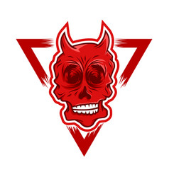 red devil skull vector image