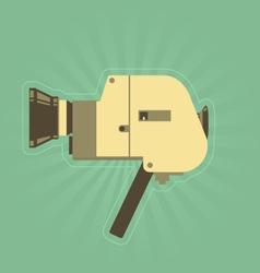 Retro hand film camera in simple style vector image
