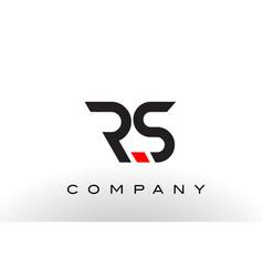 rs logo letter design vector image vector image