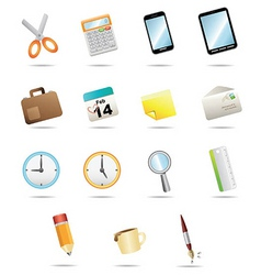 15icon for office stationery vector image