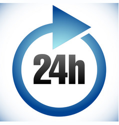 24h turnaround time tat icon interval for vector
