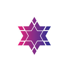 abstract logo star symbol hexagon logo vector image