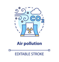 Air pollution concept icon atmosphere industrial vector
