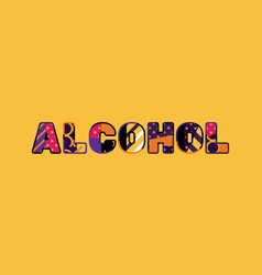 alcohol concept word art vector image