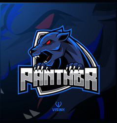 angry panther mascot logo design vector image