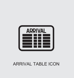 Arrival table icon vector