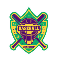 Baseball championship vintage isolated label vector