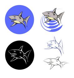 big shark icons vector image
