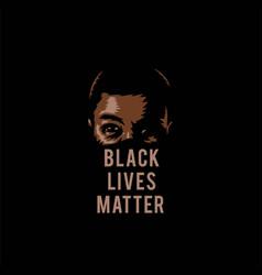 black lives matter vector image