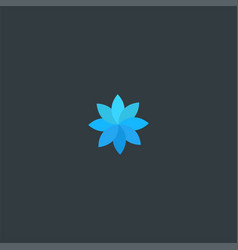 blue leaf logo design symbol dan icon template vector image