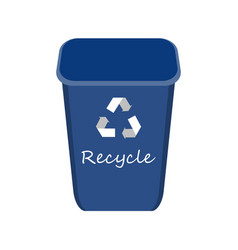 blue recycle bin with examples for separation vector image