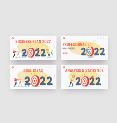 business plan to 2022 landing page template set vector image