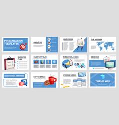 business presentation mini banners set vector image