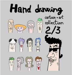Cartoon collection II vector image