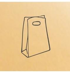 Cartoon of three brown paper bags vector