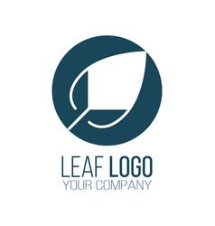 circle leaf logo icon design landscape design vector image