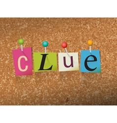 Clue Concept vector