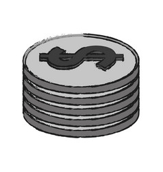 coin pile icon image vector image