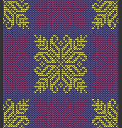 color flower knitting background vector image